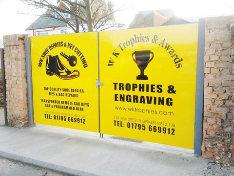 shop sign makers fitters and suppliers sheerness Kent 1st 4 signs gate signs