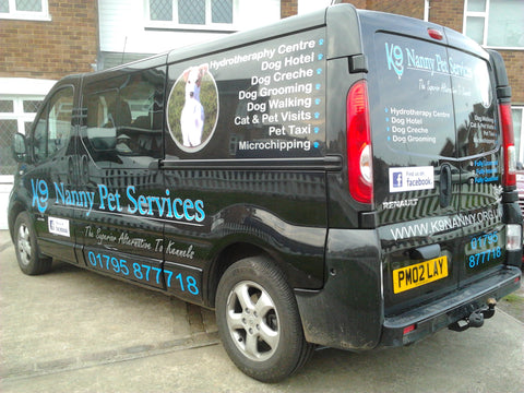 Corporate van signs
