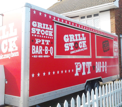 Catering Trailer Signs Graphics Wraps Printing | Commercial Lorries Trucks | Boat Signs | Bike Decals | www.1st4signs.com