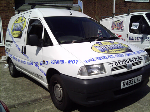 Halfway Vehicle Graphics. Fitted van and car signs free design good prices by www.1st4signs.com