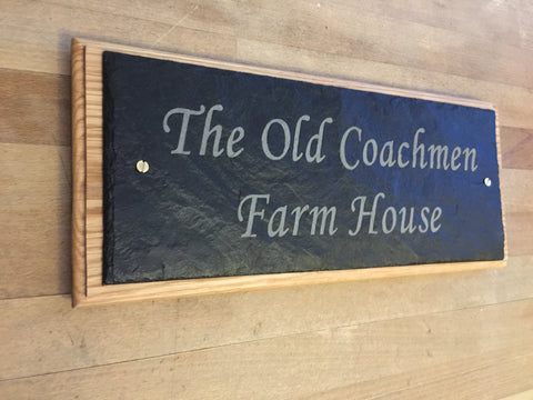 Slate and Oak House Signs