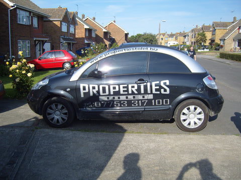 Bobbing Vehicle Graphics. Fitted van and car signs free design good prices by www.1st4signs.com