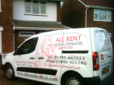 Kent Vehicle Graphics. Fitted van and car signs free design good prices by www.1st4signs.com