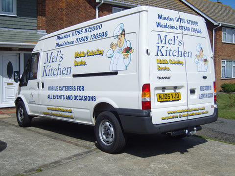 Rainham Vehicle Graphics. Fitted van and car signs free design good prices by www.1st4signs.com