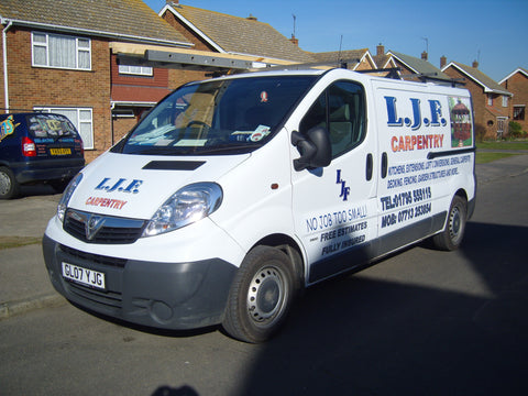 Borden Vehicle Graphics. Fitted van and car signs free design good prices by www.1st4signs.com