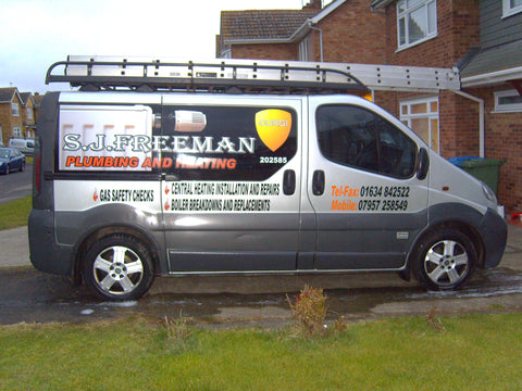 Stockbury Vehicle Graphics. Fitted van and car signs free design good prices by www.1st4signs.com