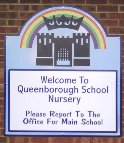 shop sign makers fitters and suppliers sheerness Kent 1st 4 signs queenborough primary school