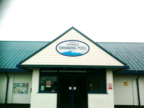 shop sign makers fitters and suppliers sheerness Kent 1st 4 signs county council swimming pool