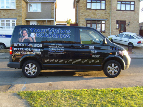 Hempsted Valley Vehicle Graphics. Fitted van and car signs free design good prices by www.1st4signs.com