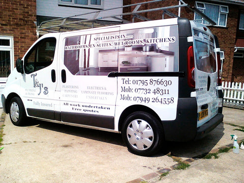 Swale Vehicle Graphics. Fitted van and car signs free design good prices by www.1st4signs.com