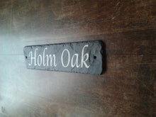 30cm x 10cm Natural Slate House Door or Gate Sign ANY MESSAGE - ANY NAME