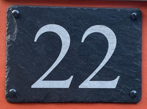 personalised engraved slate number