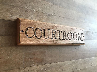 Personalised Oak House Sign, Engraved Wooden Plaques Made to Order