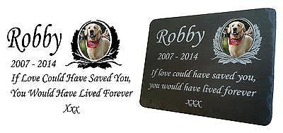 Pet Photo Memorial Slate Plaque  Personalised for your loved pet
