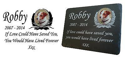 Large Pet Photo Memorial Slate Plaque Personalised