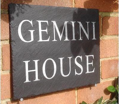 Swell Large Natural Slate House Signs 30Cm X 25Cm Dark Slate Download Free Architecture Designs Boapuretrmadebymaigaardcom