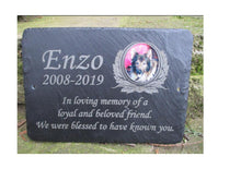 grave marker with photo