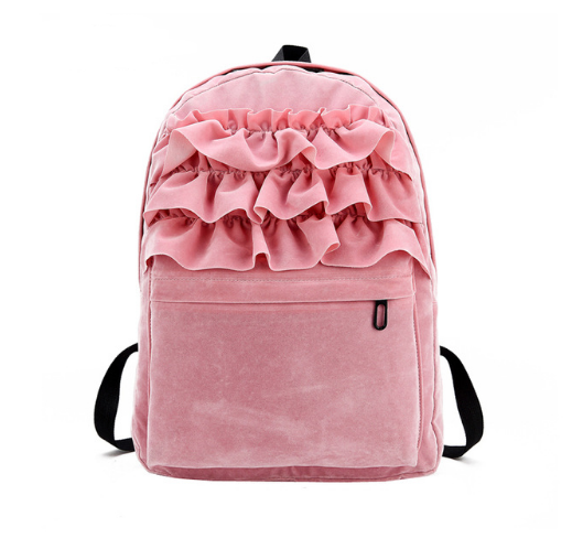 BACKPACK VELVET FRILL 5 COLORS