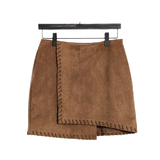 HIGH WAIST SUEDE MINI SKIRT