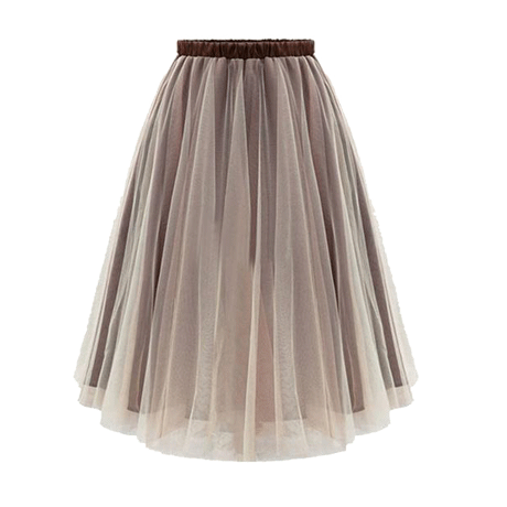 GRADIENT COLOR FLUFFY PLEATED SKIRT