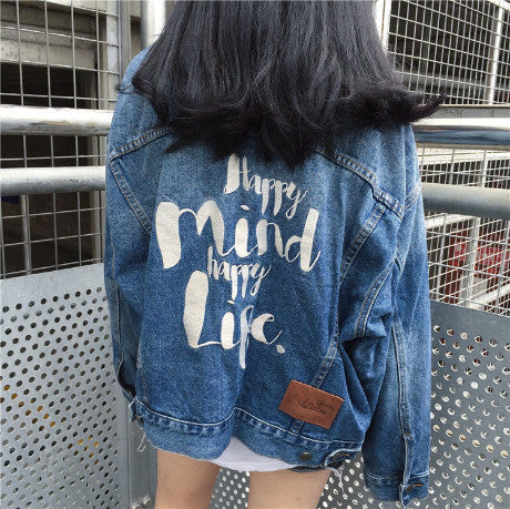 BLUE JACKET JEANS EMBROIDERY