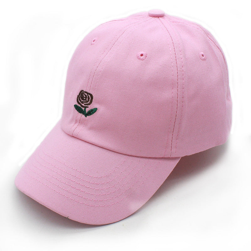 CAP ROSE EMBROIDERY