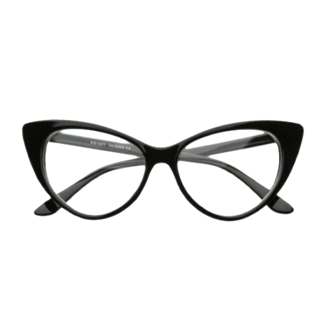 CLEAR CAT EYES GLASSES