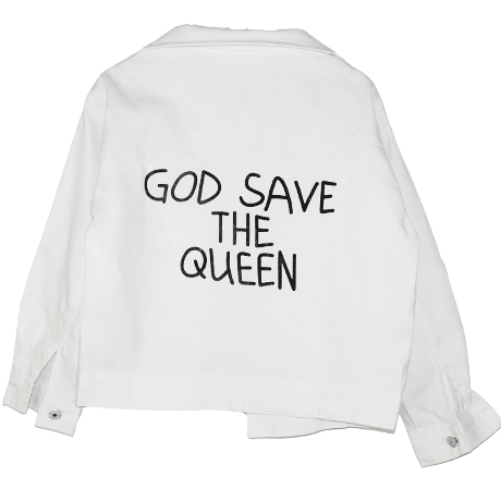 GOD SAVE THE QUEEN DENIM JACKET