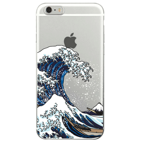 GREAT WAVE TRANSPARENT SILICONE CASE