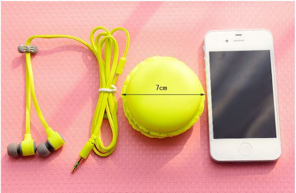 HEADPHONES WITH MACARONS CASE
