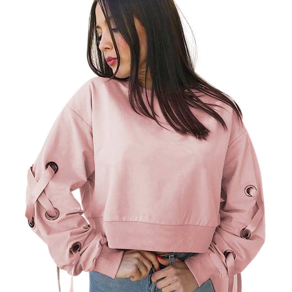HOODY PULLOVER PINK SLEEVES TAPE