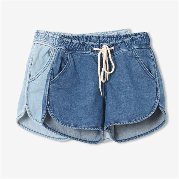 JEANS SHORTS LACE HIGH WAIST