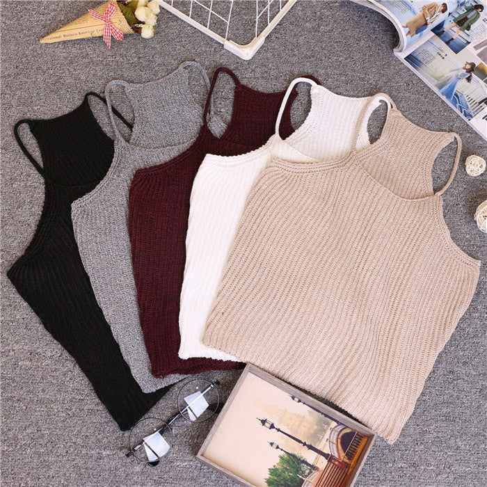 KNIT CROP TOP WEST SUNNY STYLE