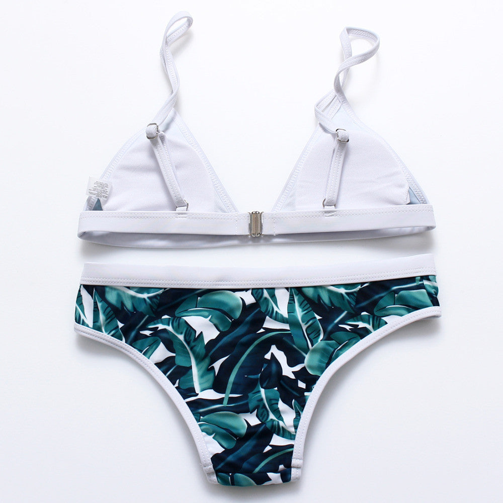 LEAF PATTERN SEA BIKINI