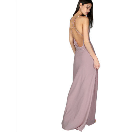 LONG DRESS MAXI WITHOUT BACK SPAGHETTI