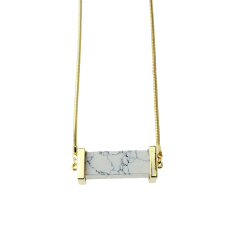 MARBLE GOLDEN BAR NECKLACE