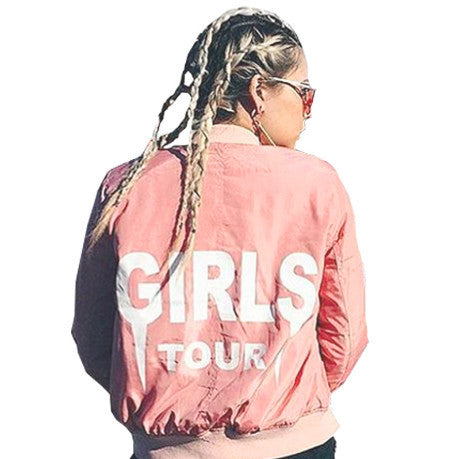 PINK JACKET BOMBER GIRLS TOUR