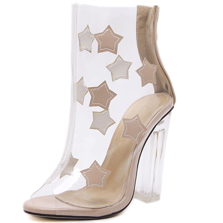 SANDALS HIGH TRANSPARENT STARS LIGHTNING