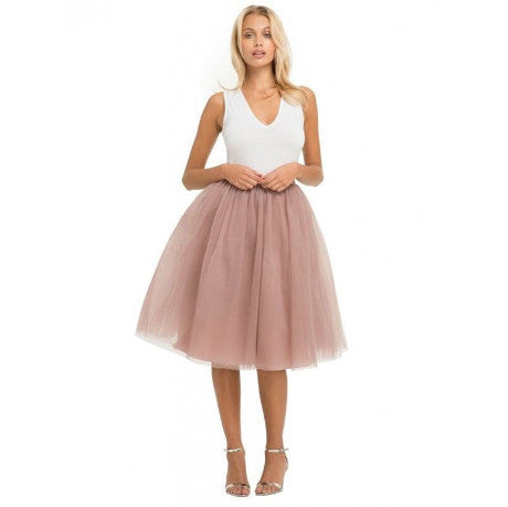 MAUVE SKIRT TULLE FIVE LAYERS LIGHTNING