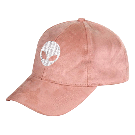 SUEDE ALIEN EMBROIDERY CAP
