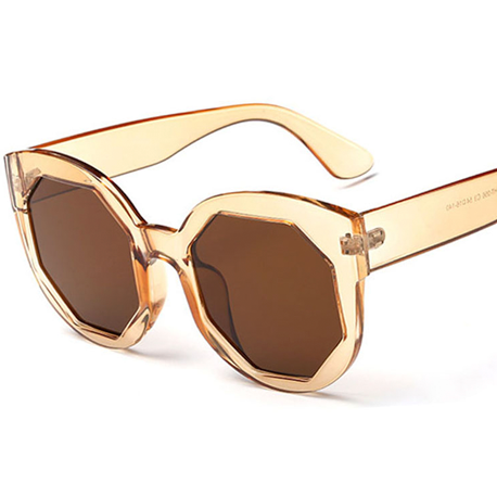 SUNGLASSES TRANSPARENT COLOR MIRROR