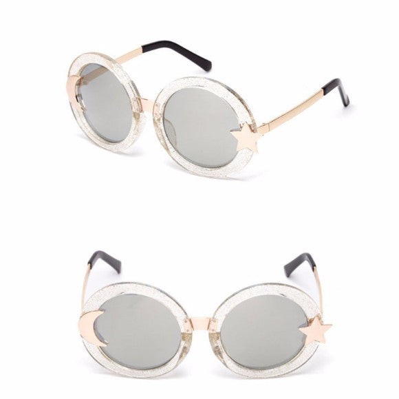 ROUND SUNGLASSES SUN MOON