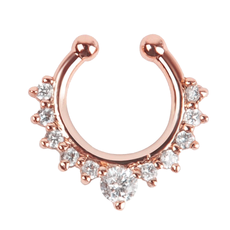 SURGICAL STEEL FAKE SEPTUM NOSE RINGS