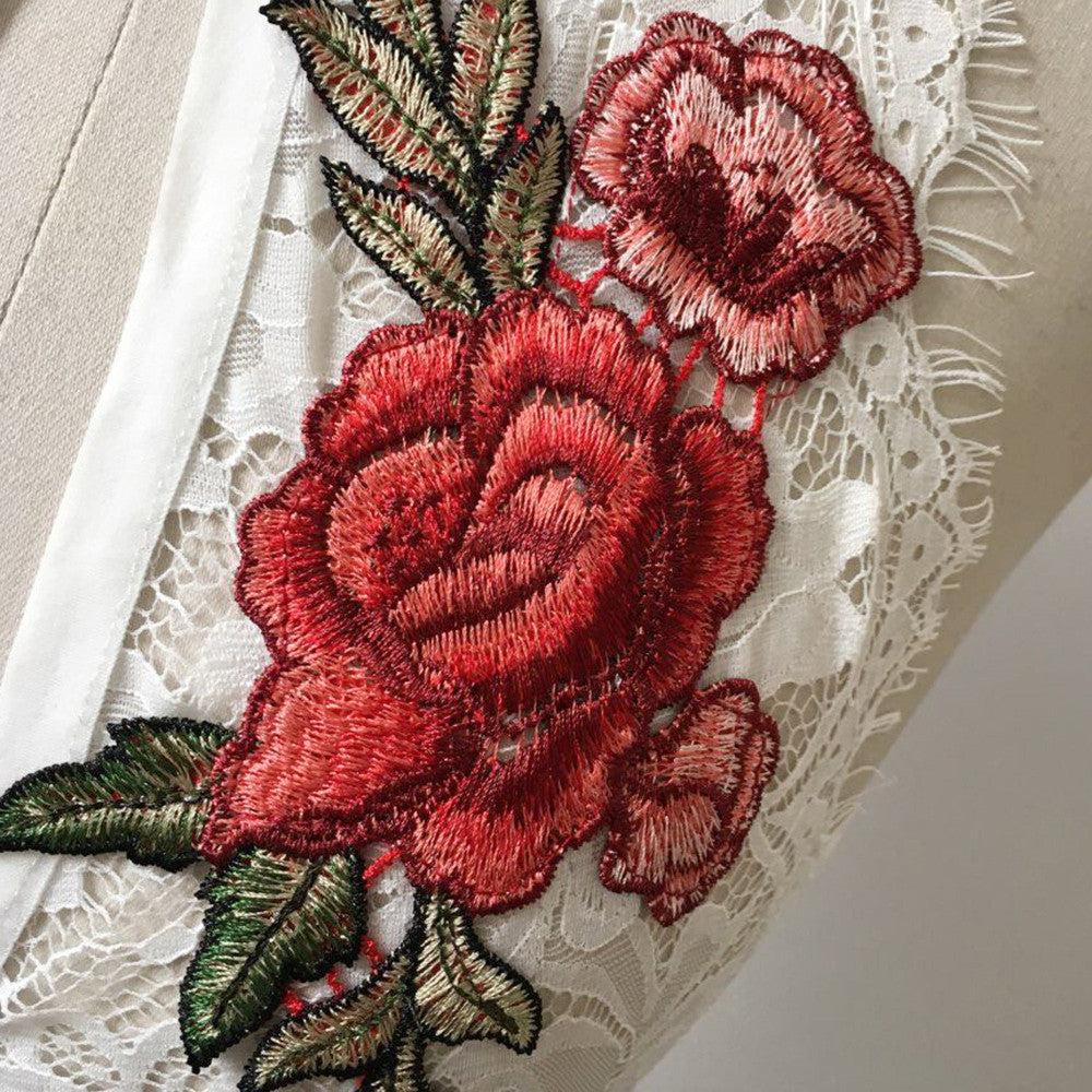 TOP BRA LIF BUST EMBROIDERY ROSE