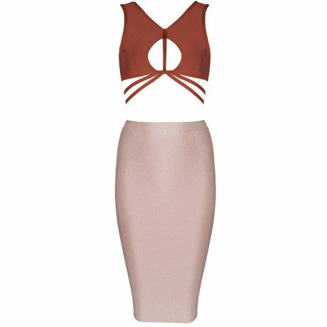 CLUB DRESS WITHOUT SLEEVES TOP SKIRT