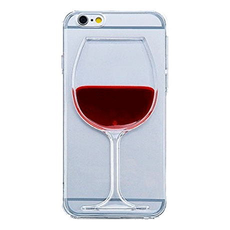 LIQUID GLASS OF WINE IPHONE CASE