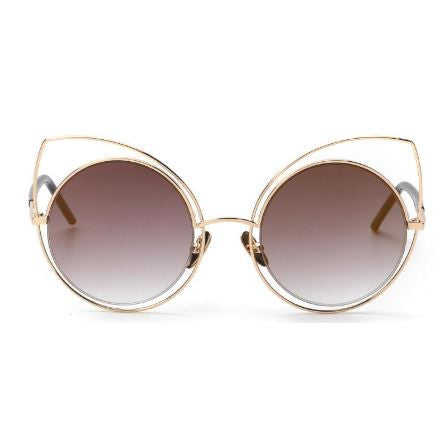 SUNGLASSES PINK GOLD CAT EYE LUXURY