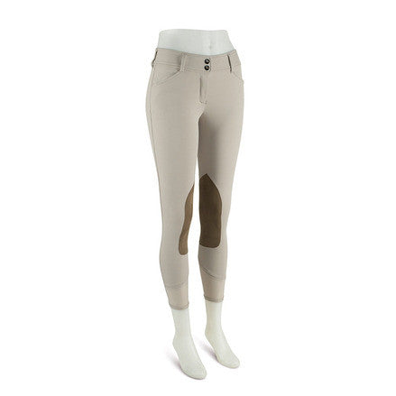 R.J. Classics Ladies Sand Show Tan Gulf Natural Rise Front Zip Breeches