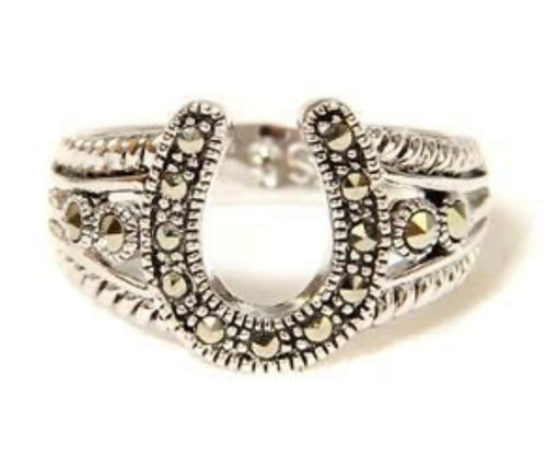Marcasite Horseshoe Ring