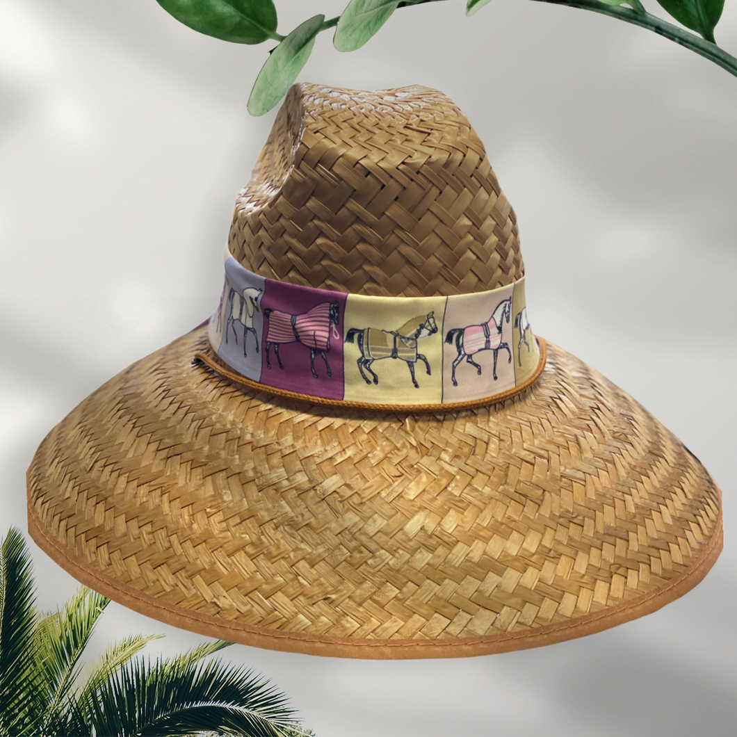 Island Girl Hats Lavender Horse Printed Band